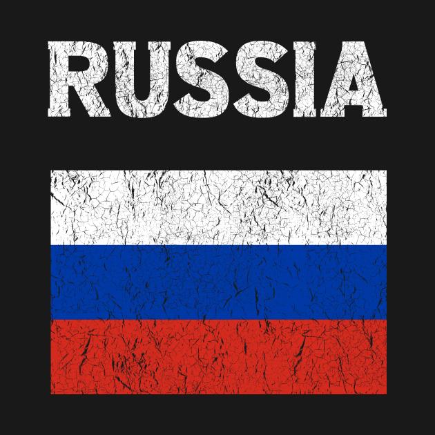 TeePublic: Russia Russian Vintage Flag