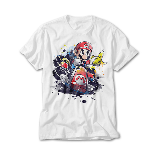 OtherTees: Go kart watercolor