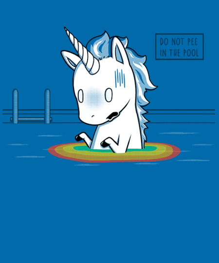 Qwertee: Don't Pee In The Pool!