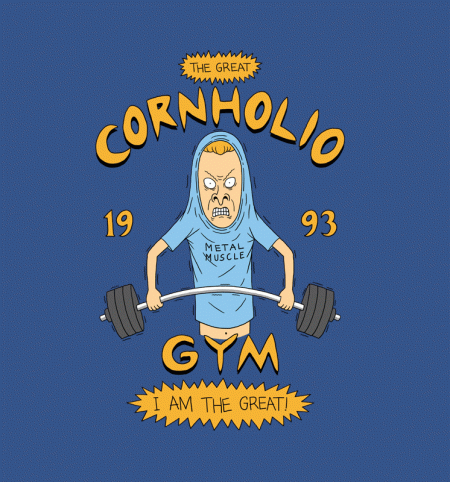 BustedTees: Cornholio's Gym