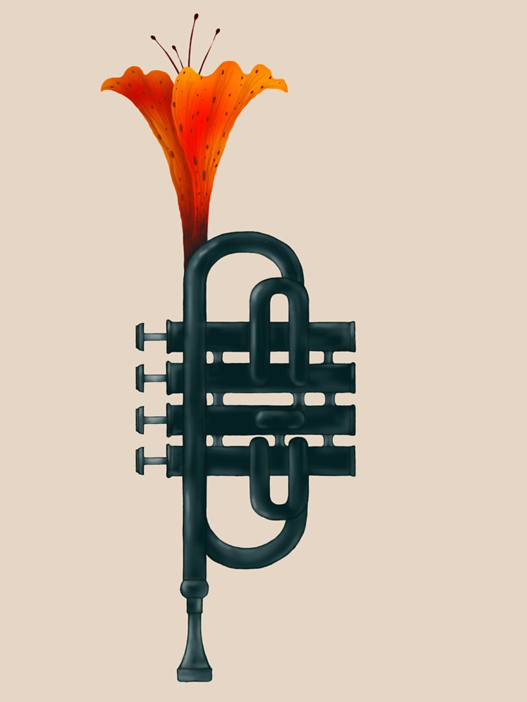 RedBubble: Trumpet Flower