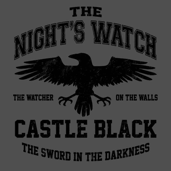 We Heart Geeks: Watchers on the Wall (Black) - Men's T-Shirt