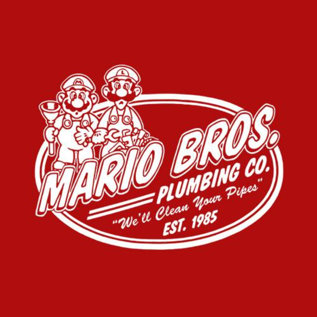 Five Finger Tees: Mario Brothers Plumbing Co. T-Shirt
