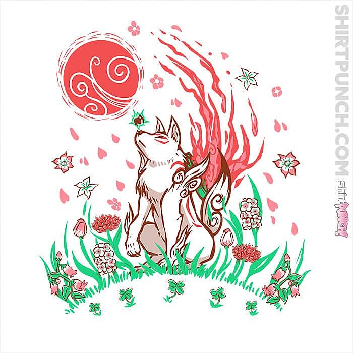 ShirtPunch: Wolf Blossom Breeze