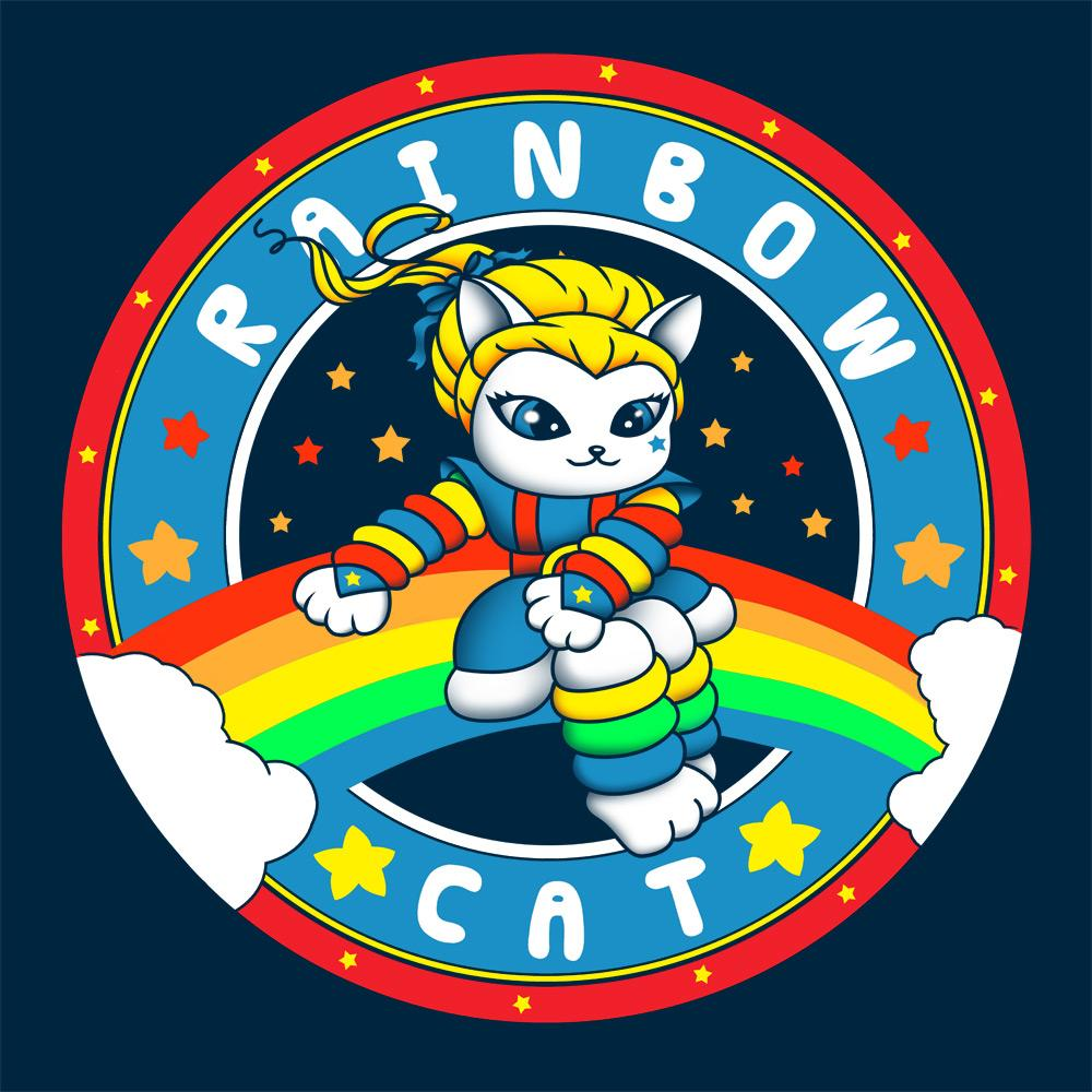 Feline Shirts: Rainbow Cat