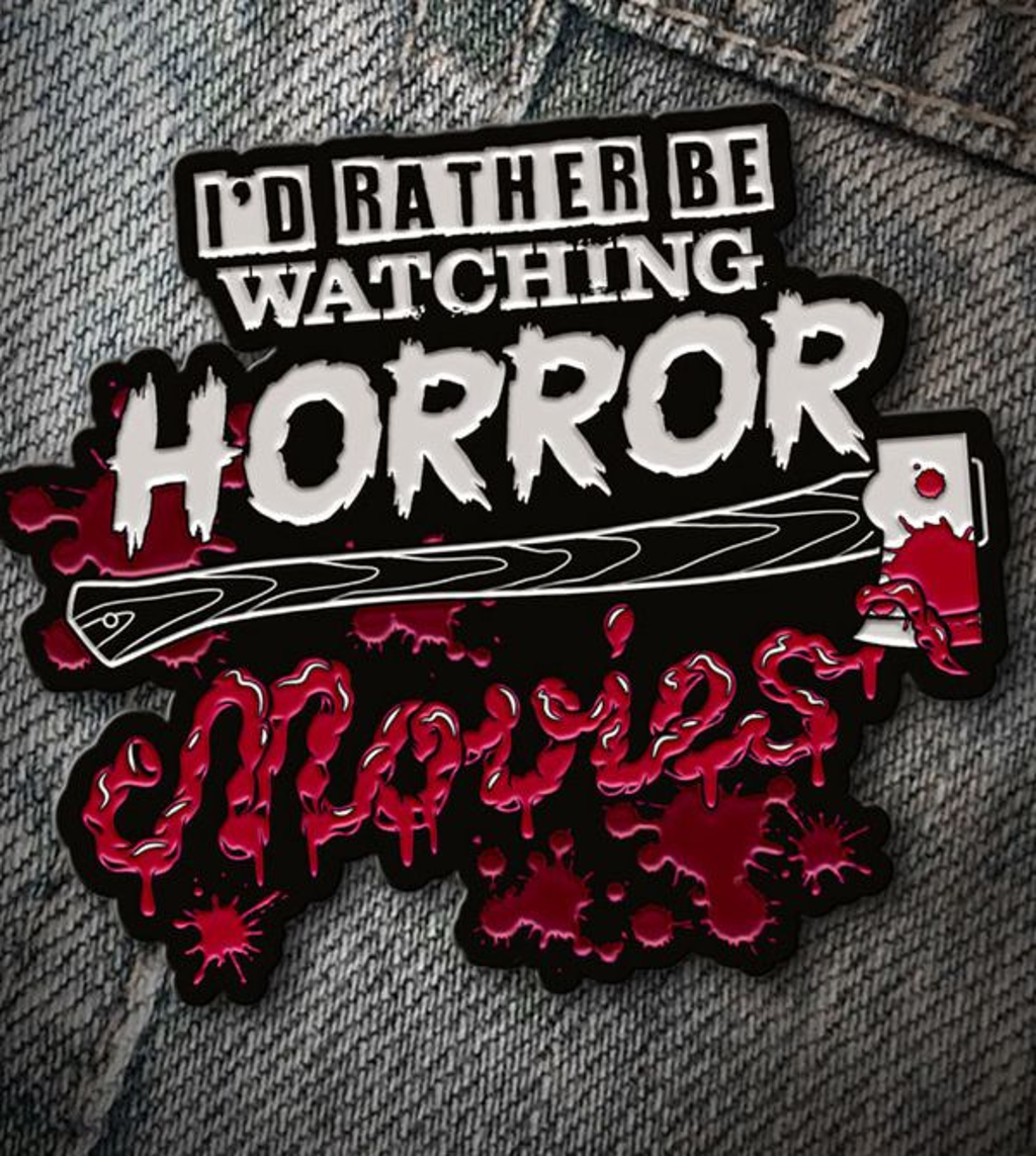 teeVillain: HorrorMov Pin
