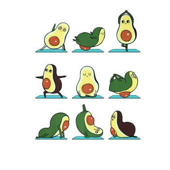 BustedTees: Avocado Yoga Asana Pose Meditation