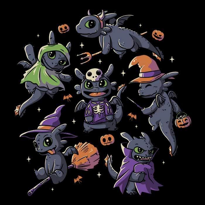Once Upon a Tee: Halloween Dragons