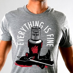 SnorgTees: Everything Is Fine Limited Edition Tri-Blend