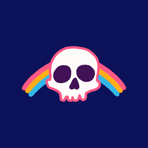 NeatoShop: Rainbow Skull