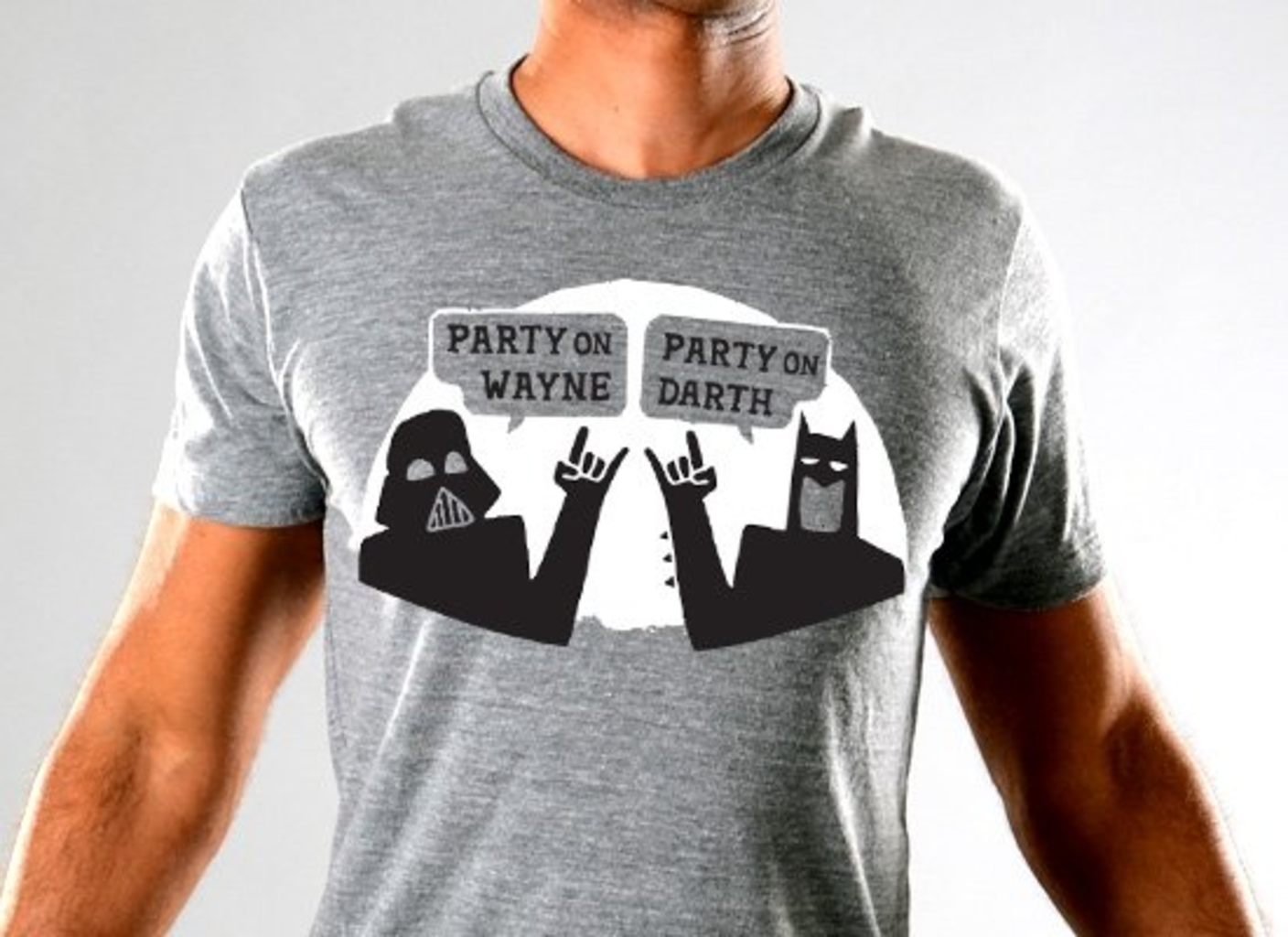 SnorgTees: Party On Wayne, Party On Darth Limited Edition Tri-Blend