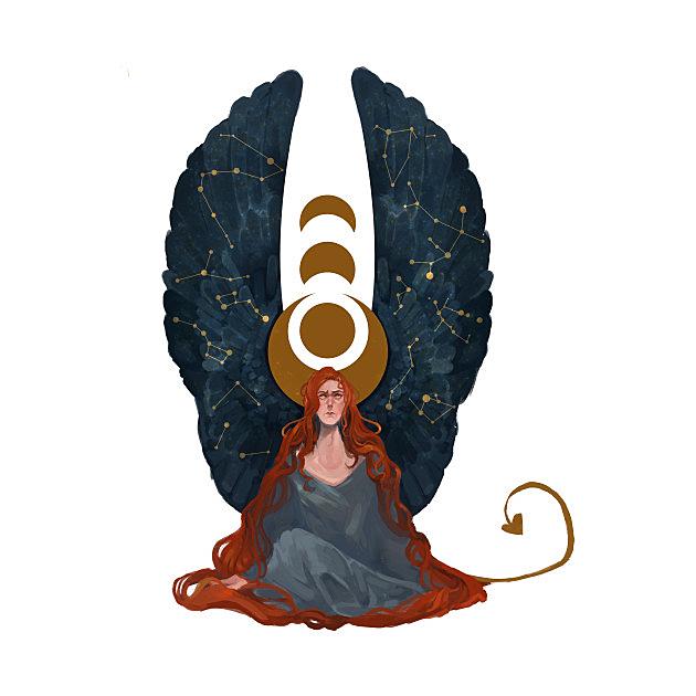 TeePublic: winged constellations