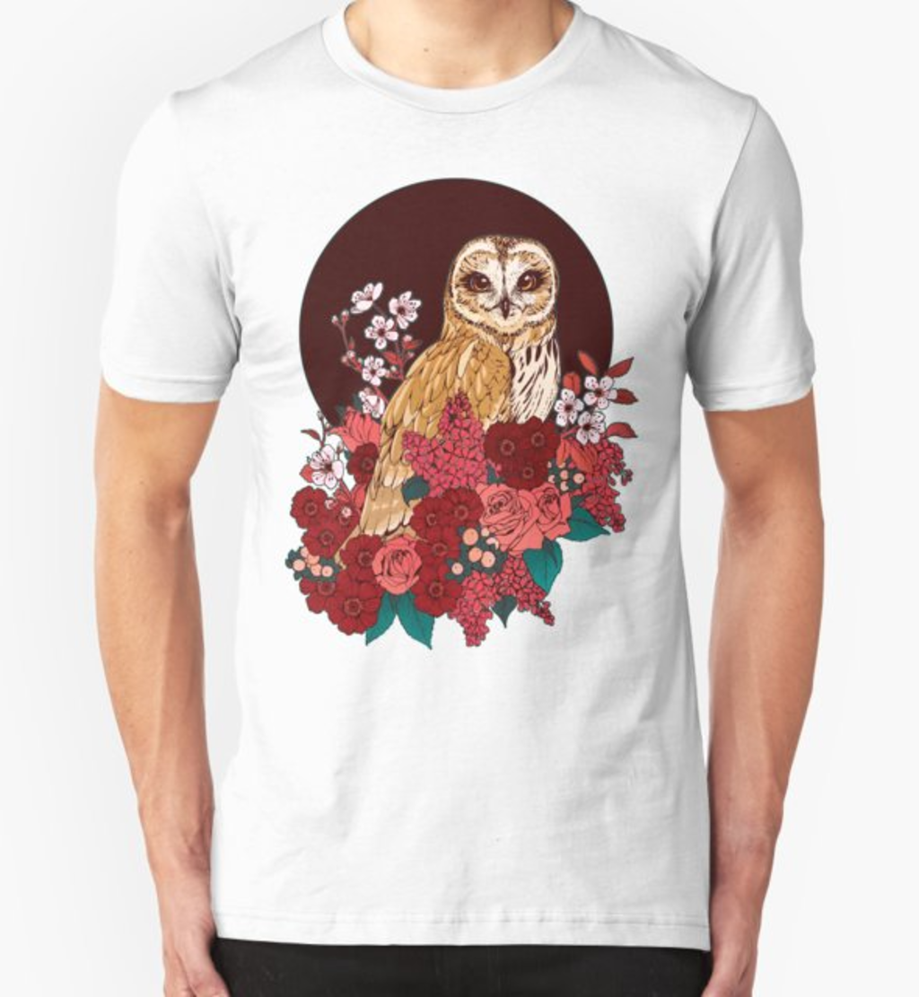 RedBubble: Owl Floral Eclipse