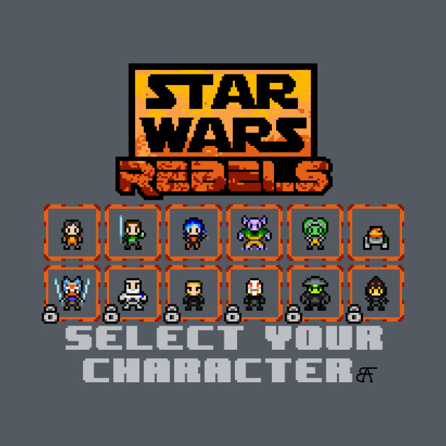 TeePublic: STAR WARS REBELS SELECT SCREEN