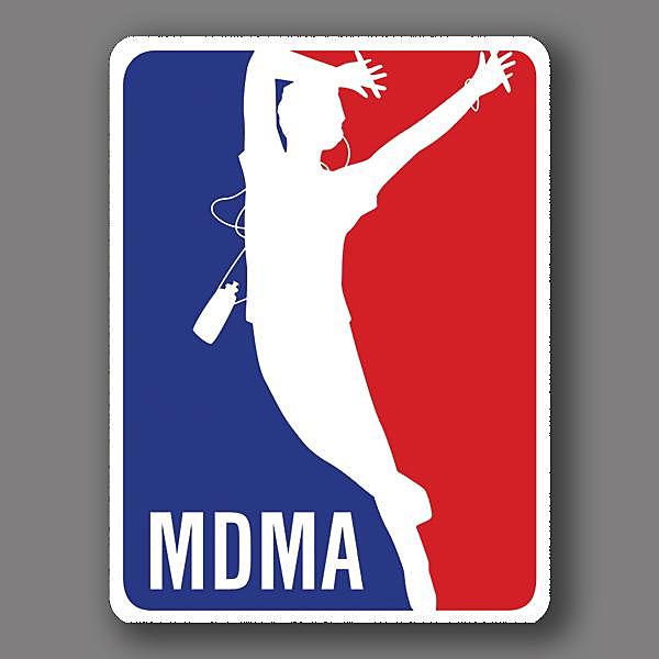 BustedTees: MDMA Vinyl Sticker