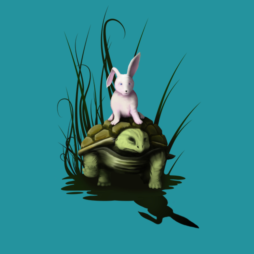 NeatoShop: Bunny riding on a turtle