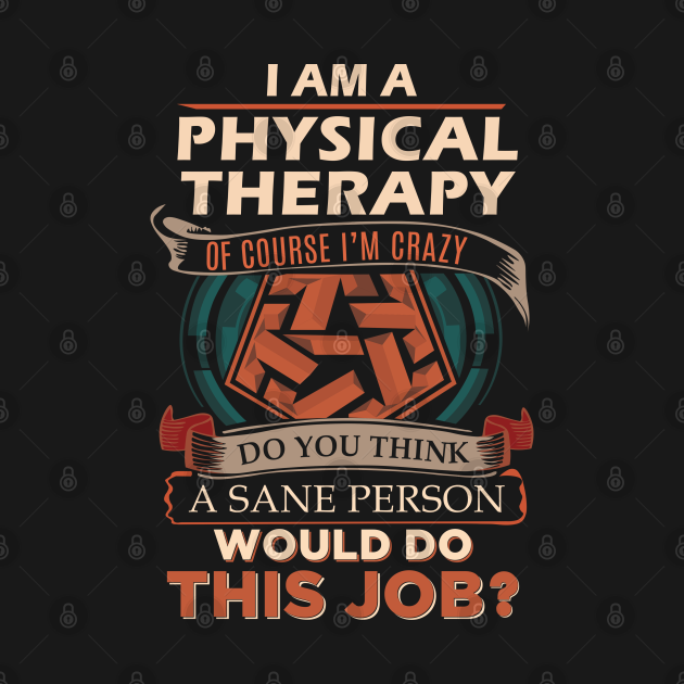 TeePublic: Physical Therapy T Shirt - Custom Graphic Sane Person Gift Item Tee