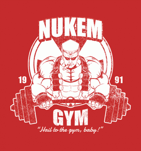 BustedTees: Nukem Gym