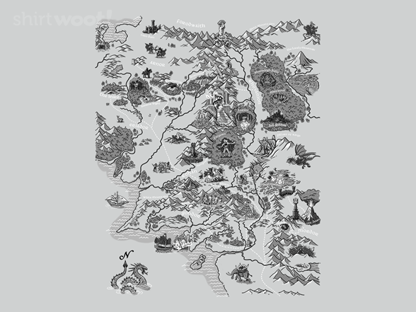 Woot!: Map of Middle Earth
