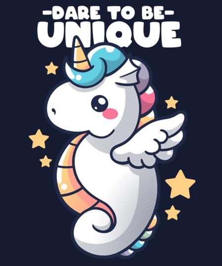 Qwertee: unique seahorse