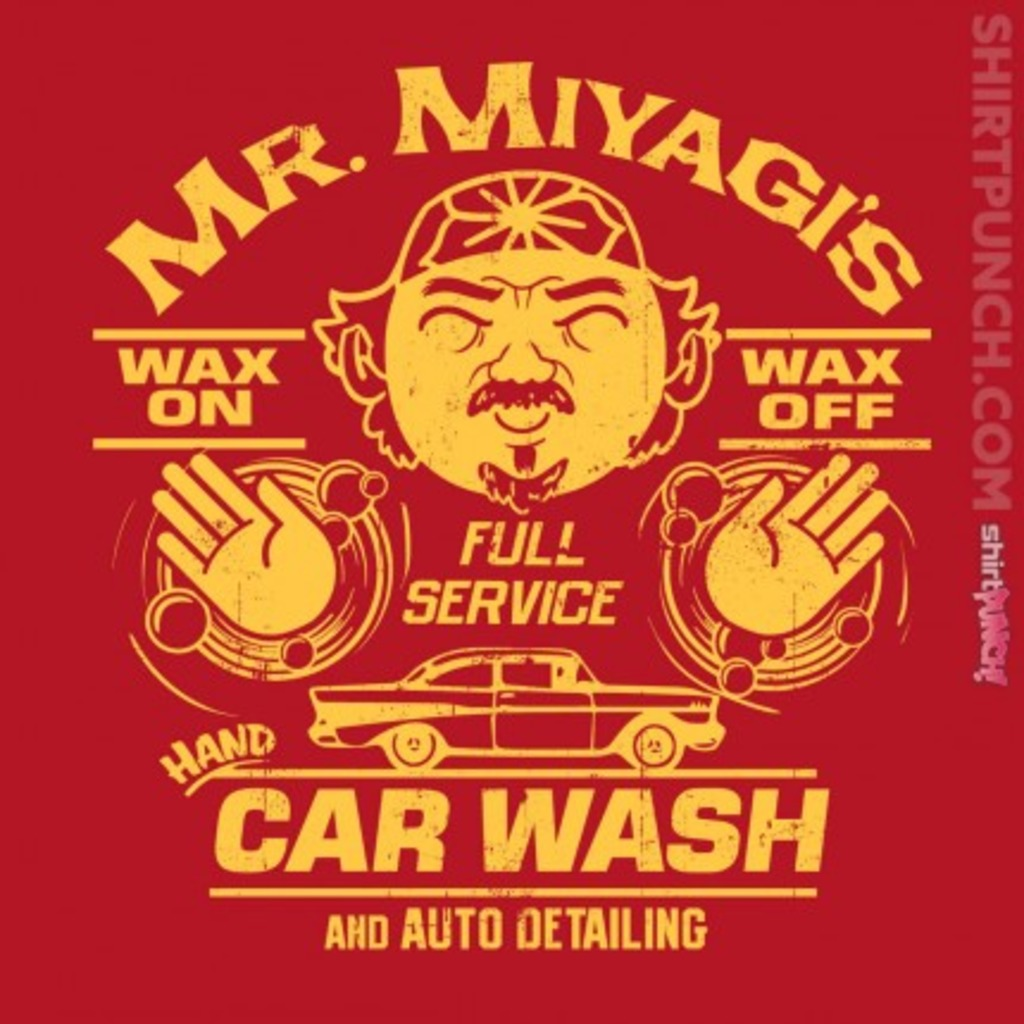 ShirtPunch: Mr. Miyagi's Car Wash