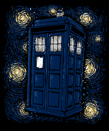Qwertee: Starry TARDIS