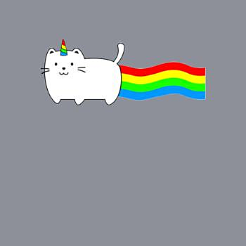 BustedTees: Magical Cat Unicorn