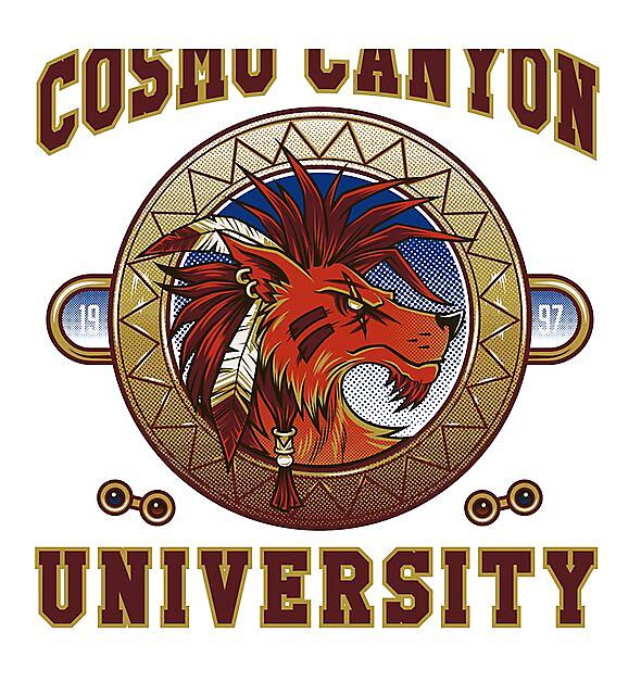 RedBubble: Cosmo Canyon - Red XIII - Nanaki - University