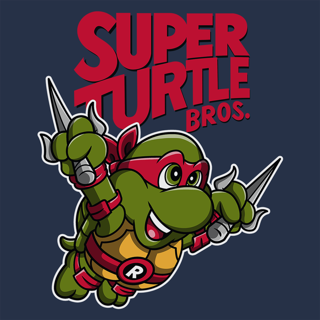 Pop-Up Tee: Super Turtle Bros Raph