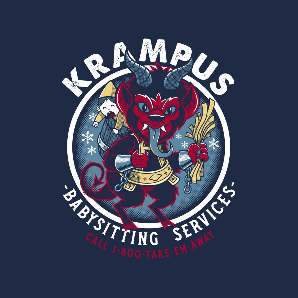 TeeFury: Krampus Babysitting Services