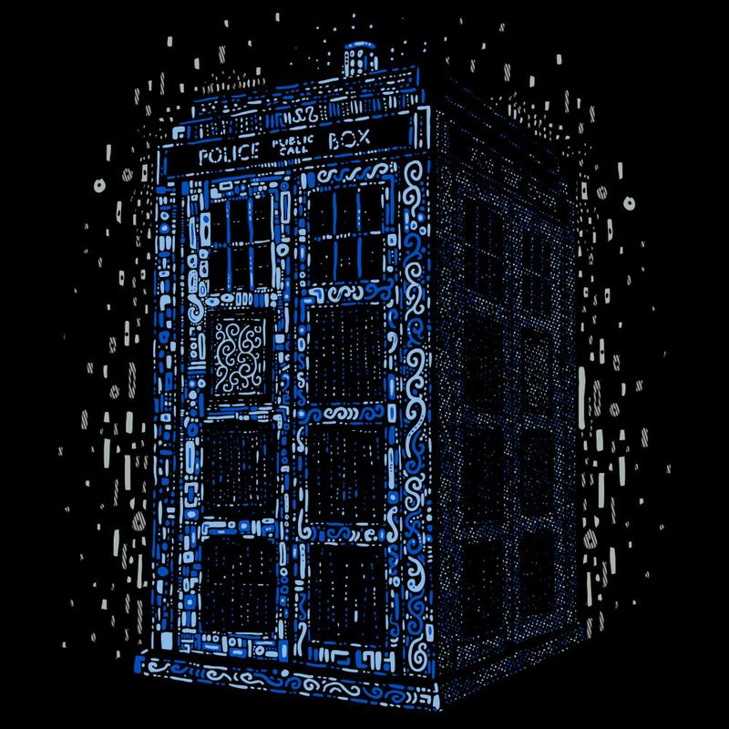 Curious Rebel: Klimt TARDIS Blue