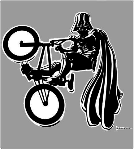 Shirt Battle: BMX Darth