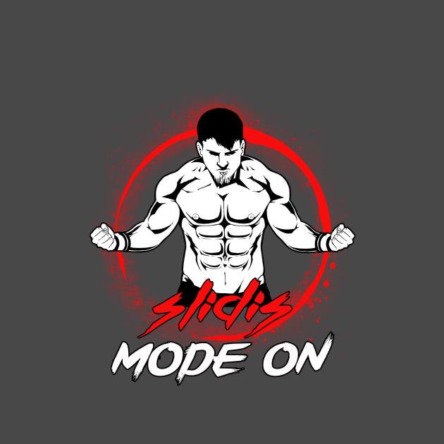 TeePublic: Slidis Mode ON (Black Stroke)