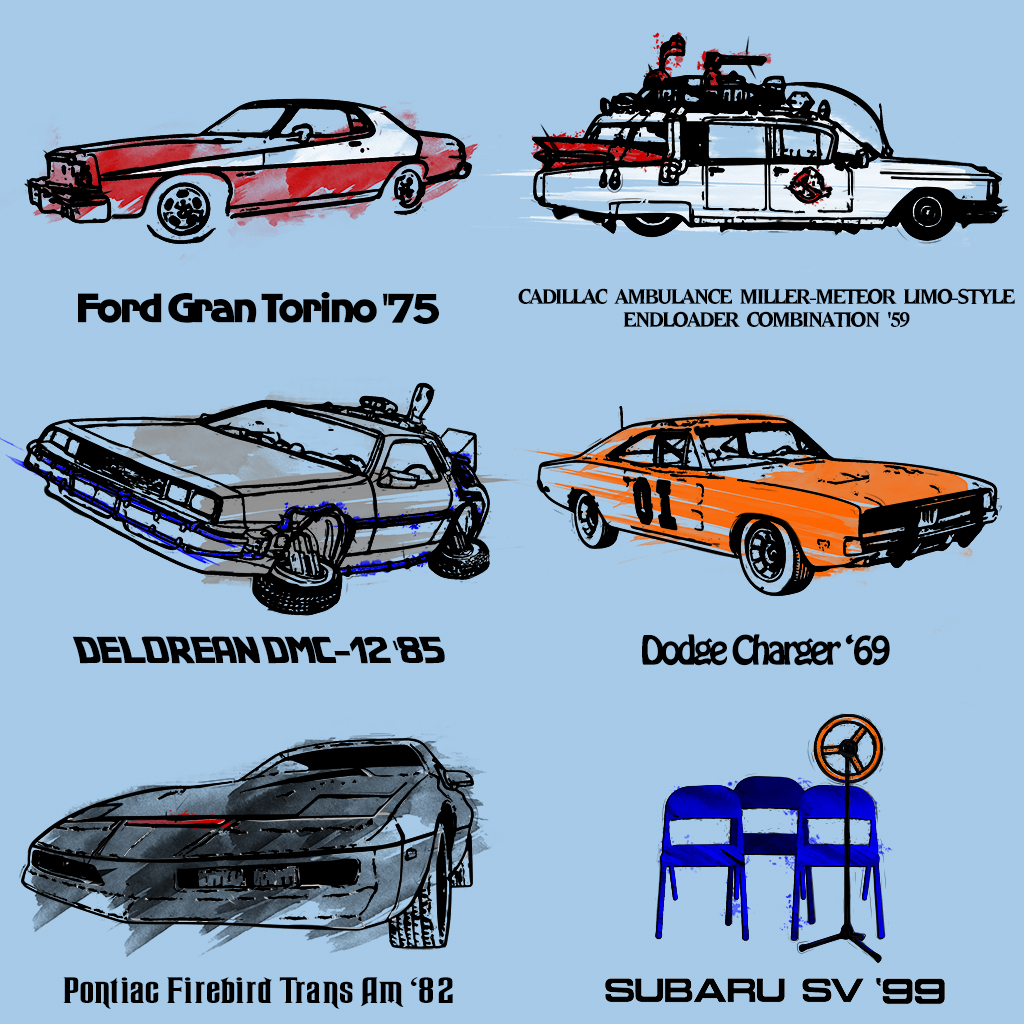 TeeTee: Iconic tv cars