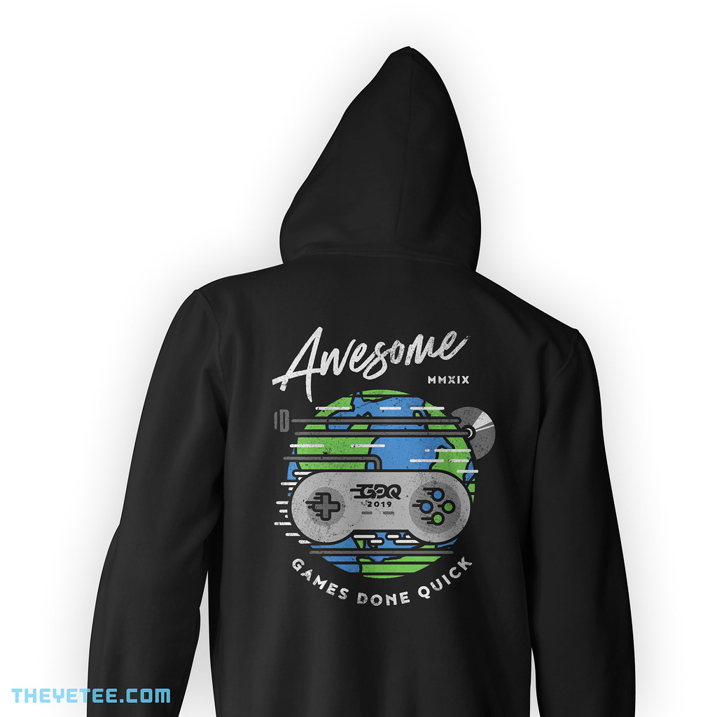 The Yetee: AGDQ 2019 Event Zip-Up Hoodie