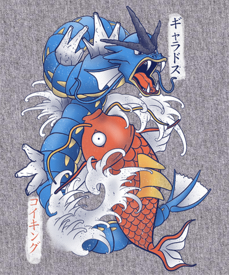 Qwertee: Koi Fish Evolution