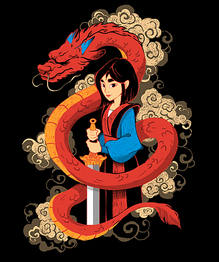 Qwertee: Daughter and the Dragon!