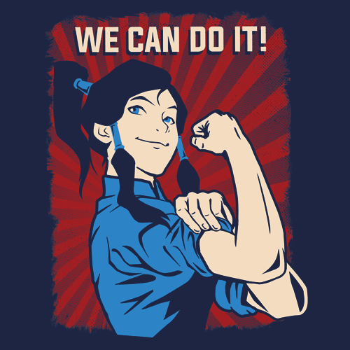 Textual Tees: Korra the Riveter