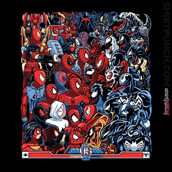 ShirtPunch: Spiders VS Symbiotes