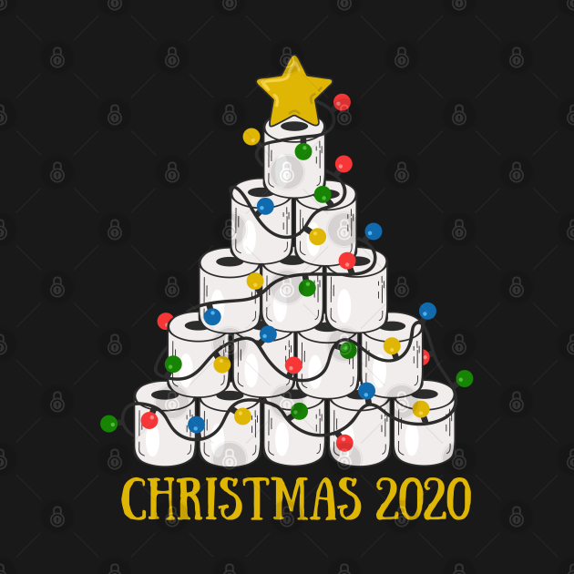 TeePublic: Toilet Paper Christmas Tree