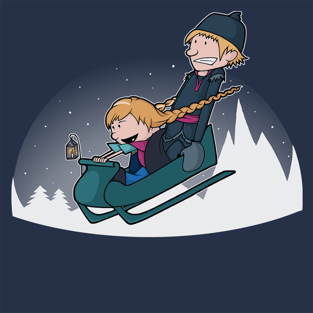 Pop-Up Tee: A Snowy Ride