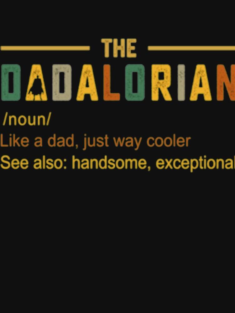 RedBubble: The Dadalorian Men's Vintage Dad Just Way Cooler