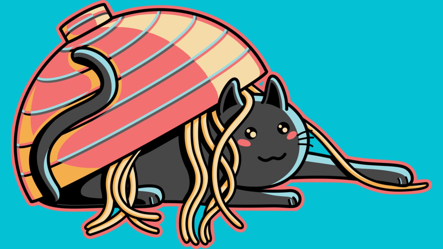 Design by Humans: Ramen Loving Cat