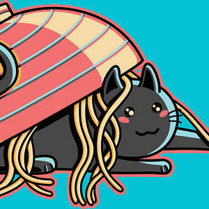 Design by Humans: Ramen Loving Cat