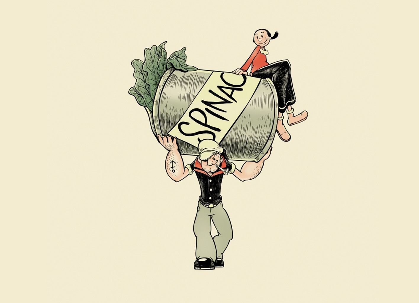 Threadless: The Sailor Man with the Spinach Can