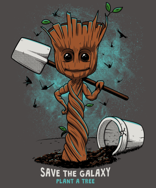 Qwertee: Plant a tree - save the galaxy