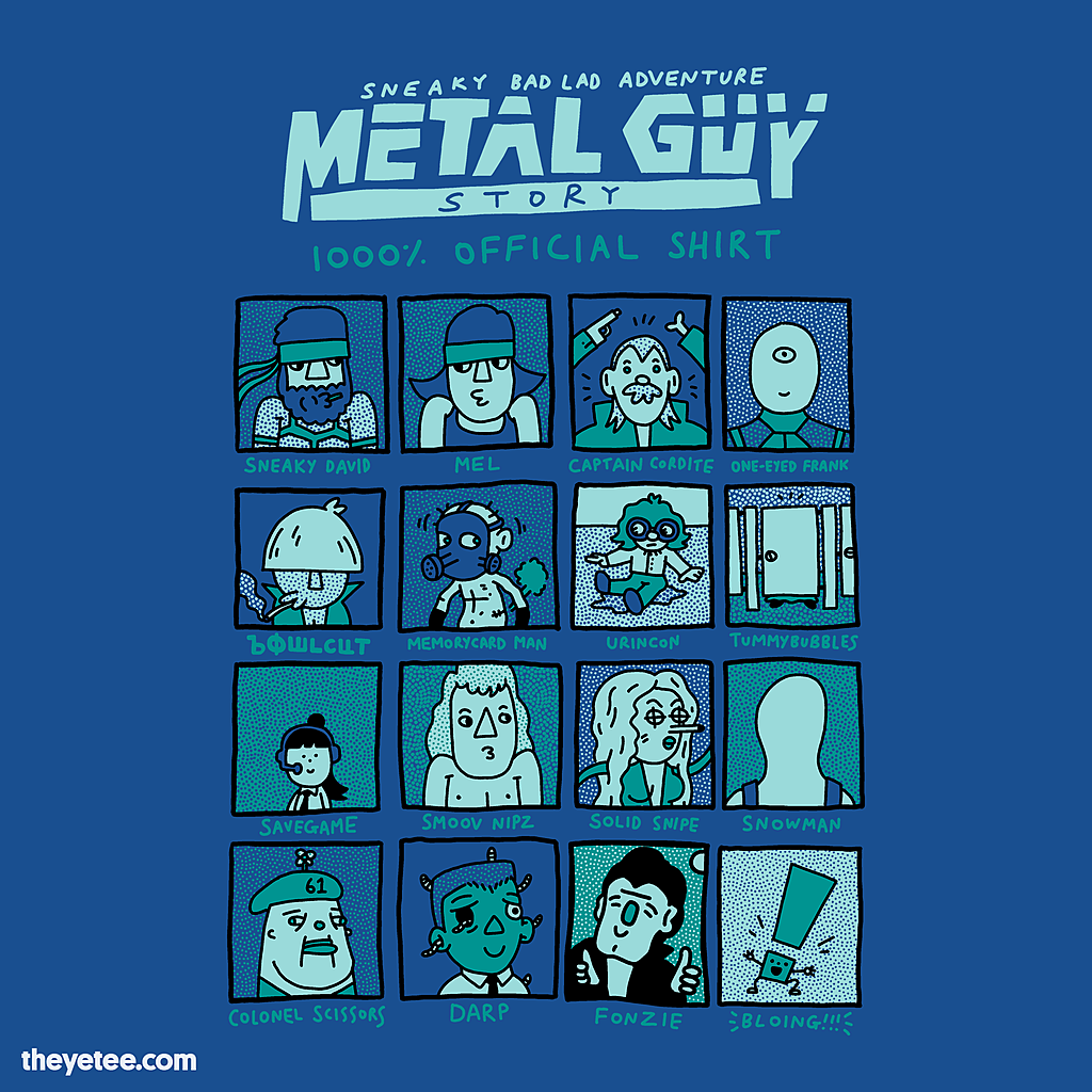 The Yetee: Metal Guy Story 1000% Official Shirt