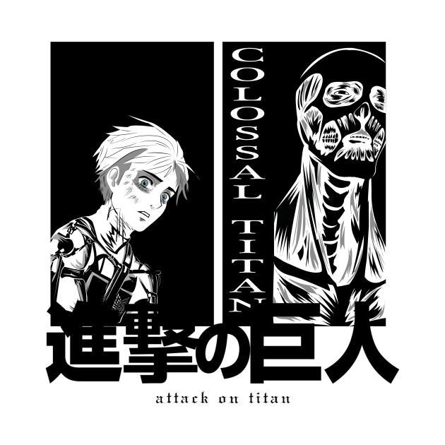 TeePublic: Shingeki no kyojin. Colossal Titan/ Armin.