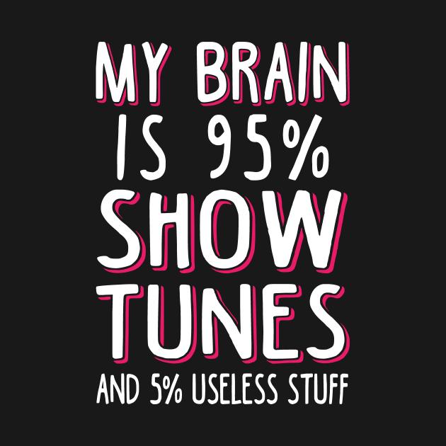 TeePublic: My Brain is 95% Show Tunes