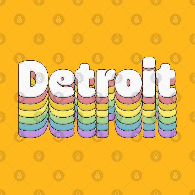 TeePublic: Detroit, Michigan // Retro Typography Design